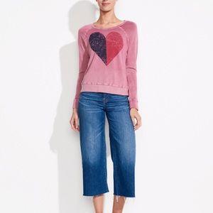 Sundry half heart sweater crew neck sz 2= M